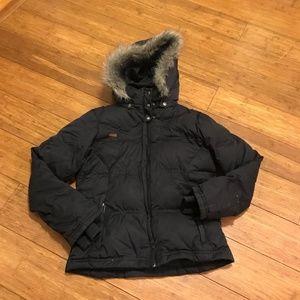 Columbia Winter Jacket Detachable Hood Faux Fur